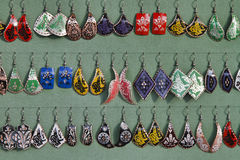 Turkey, Istanbul, turkish earings for sale Stock Images