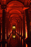 Turkey. Istanbul. Underground basilica cistern Royalty Free Stock Images