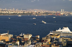 Turkey Istanbul View on Bosphorus Stock Photography