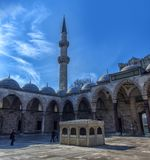A view of the majestic Suleiman Mosque in Istanbul, Turkey. Turkey, Istanbul, 13,03,2018   A view of the majestic Suleiman Mosque in Istanbul, Turkey Stock Images