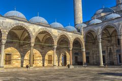 A view of the majestic Suleiman Mosque in Istanbul, Turkey. Turkey, Istanbul, 13,03,2018   A view of the majestic Suleiman Mosque in Istanbul, Turkey Stock Photos