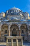 A view of the majestic Suleiman Mosque in Istanbul, Turkey. Turkey, Istanbul, 13,03,2018   A view of the majestic Suleiman Mosque in Istanbul, Turkey Stock Photography