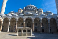 A view of the majestic Suleiman Mosque in Istanbul, Turkey. Turkey, Istanbul, 13,03,2018   A view of the majestic Suleiman Mosque in Istanbul, Turkey Stock Image