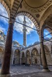A view of the majestic Suleiman Mosque in Istanbul, Turkey. Turkey, Istanbul, 13,03,2018   A view of the majestic Suleiman Mosque in Istanbul, Turkey Royalty Free Stock Images