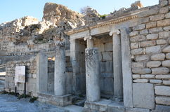 Turkey, Izmir, Bergama in ancient Greek Hellenistic different A nice introduction, this is a real civilization, baths Royalty Free Stock Image