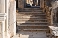 Turkey, Izmir, Bergama in ancient Greek Hellenistic different stone stairs, this is a real civilization, baths Stock Image
