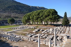 Turkey, Izmir, Bergama ancient greek, ruins scattered over a wide area Royalty Free Stock Images