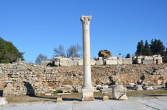 Turkey, Izmir, Bergama ancient greek square, ruins scattered over a wide area Stock Images