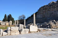 Turkey, Izmir, Bergama ancient greek square, ruins scattered over a wide area Royalty Free Stock Photography