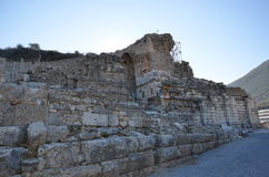 Turkey, Izmir, Bergama ancient greek square, ruins scattered over a wide area Royalty Free Stock Photo