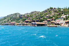 Turkey, Kalekoy - 20.06.2015. Kalekoy or Simena  village on  Turkish island of Kekova Royalty Free Stock Photos