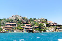 Turkey, Kalekoy - 20.06.2015. Kalekoy or Simena  village on  Turkish island of Kekova Stock Photo