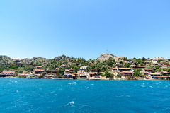 Turkey, Kalekoy - 20.06.2015. Kalekoy or Simena  village on  Turkish island of Kekova Stock Photography