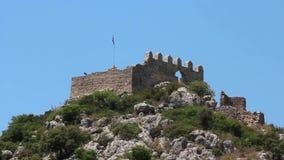 Turkey, Kekova-Simena region, old fortifications stock footage