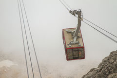 Turkey, Kemer, the cable car to Mount Tahtali (Olympos) Royalty Free Stock Images