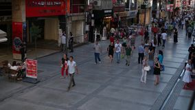 TURKEY - Kibris Sehitleri street is the most popular tourism destination at Izmir city center. IZMIR - ALSANCAK; JULY 2015: Kibris Sehitleri street is the most stock video footage