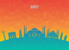 Turkey Landmark Global Travel And Journey paper background. Vect. Or Design Template.used for your advertisement, book, banner, template, travel business or Royalty Free Stock Photos