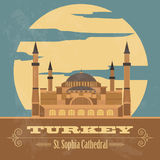 Turkey landmarks. Retro styled image. Royalty Free Stock Image