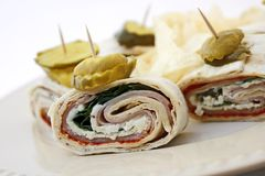 Turkey Lavash Wraps Royalty Free Stock Photography