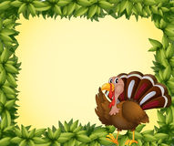 A turkey on a leafy frame Royalty Free Stock Photo