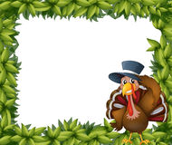 A turkey and the leafy frame Stock Photo