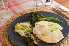 Turkey Lemon Escalope Stock Images