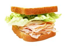 Turkey and Lettuce Sandwich Royalty Free Stock Photography