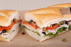 Turkey, Lettuce and Tomato Sandwich Royalty Free Stock Images