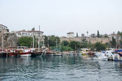 Turkey, manavgat, old town, Harbour stock photos