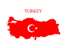 turkey map Royalty Free Stock Photography