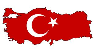 Turkey Map royalty free stock photos