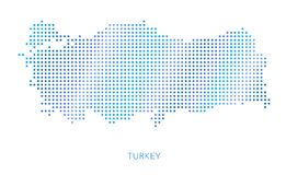 Turkey map, dot vector background Royalty Free Stock Photos