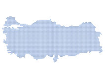 Turkey map dots Stock Photo