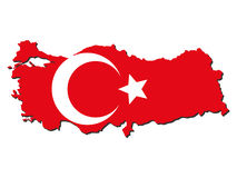 Turkey map flag Stock Photography