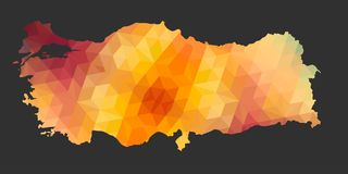 The Turkey Map of Polygonal Style Royalty Free Stock Photos
