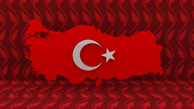 Turkey Map. Turkish Flag Sign. Turkey Country Map Sign. Stock Images