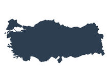 Turkey map on a white background vector Stock Photos