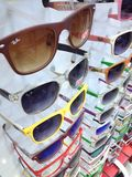 Turkey Marmaris Sunglasses in Shop Window Royalty Free Stock Images