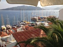Turkey Marmaris Sunset near Marina Royalty Free Stock Images