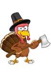 Turkey Mascot - Holding An Axe royalty free illustration