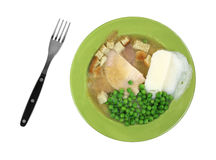 Turkey Meal Cooked Fork Stock Photo