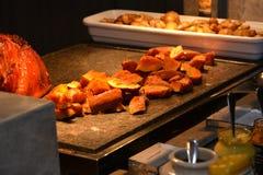 Turkey meat Buffet style Stock Image