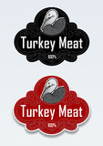 Turkey Meat Seal / Sticker Stock Photo