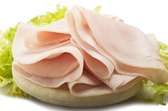 Turkey meat slices Stock Image