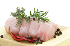 Turkey meat with various herbs and spices Royalty Free Stock Photography