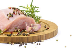 Turkey meat with various herbs and spices Stock Image