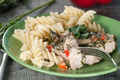 Turkey meat in vegetable sauce Stock Images