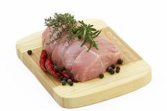 Turkey meat on wooden board Stock Image