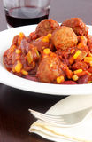 Turkey meatball chili Royalty Free Stock Images