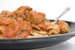 Turkey Meatballs and Pasta Stock Images